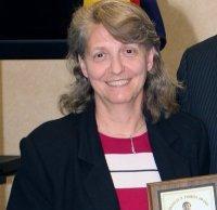 Eileen receiving the Frank Ishida Award in 2007